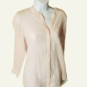 Joie Women's Long Sleeve Button Down Pink Top